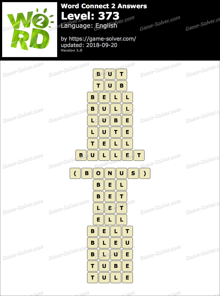 Word Connect 2 Level 373 Answers