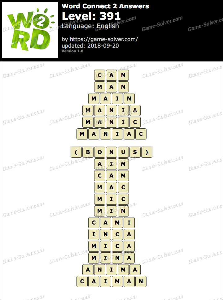Word Connect 2 Level 391 Answers
