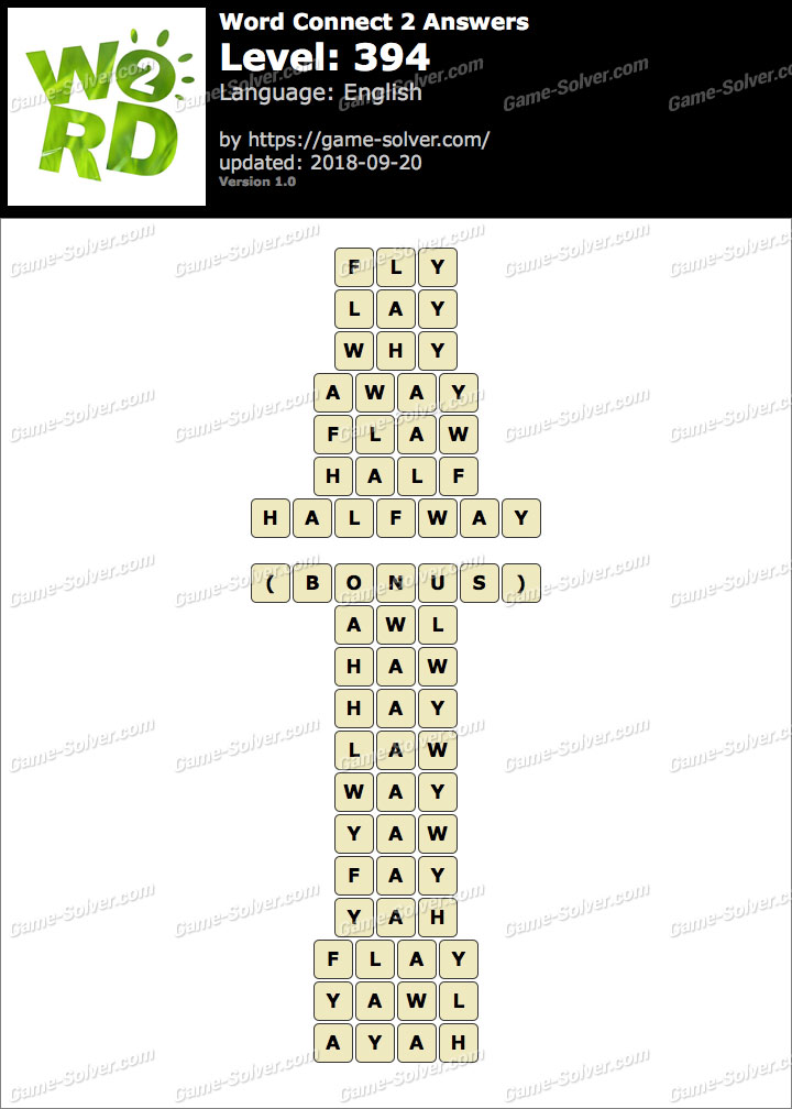 Word Connect 2 Level 394 Answers