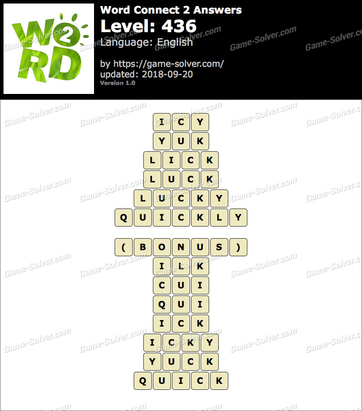 Word Connect 2 Level 436 Answers