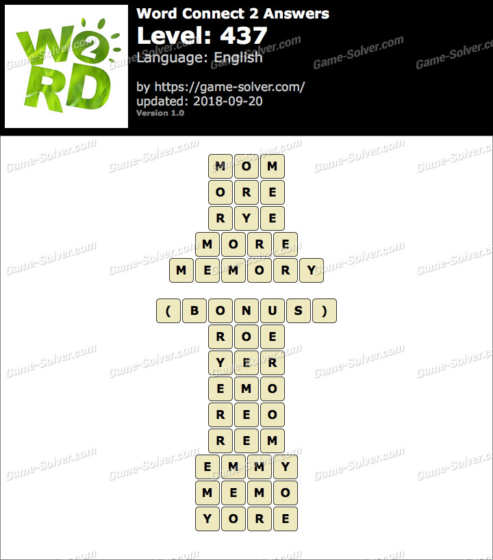 Word Connect 2 Level 437 Answers