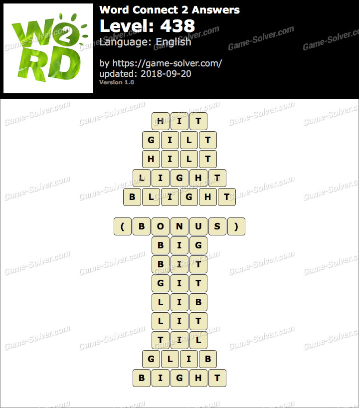 Word Connect 2 Level 438 Answers