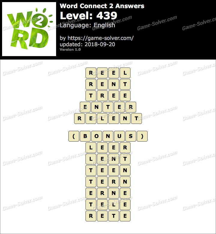 Word Connect 2 Level 439 Answers