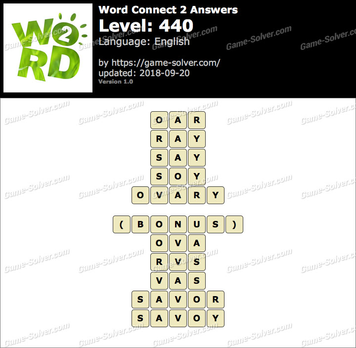 Word Connect 2 Level 440 Answers