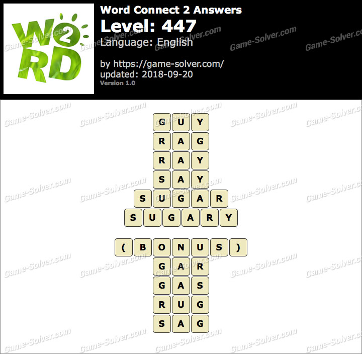Word Connect 2 Level 447 Answers