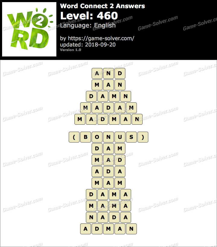 Word Connect 2 Level 460 Answers