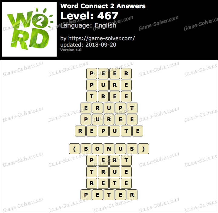 Word Connect 2 Level 467 Answers
