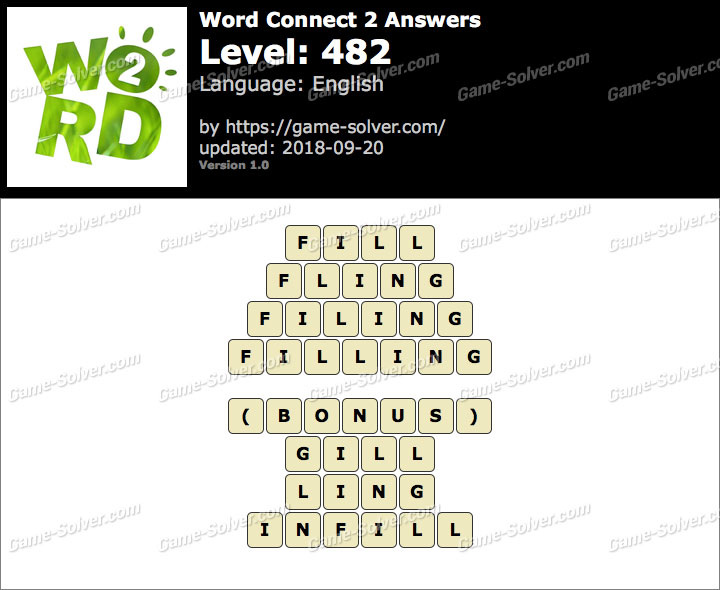 Word Connect 2 Level 482 Answers