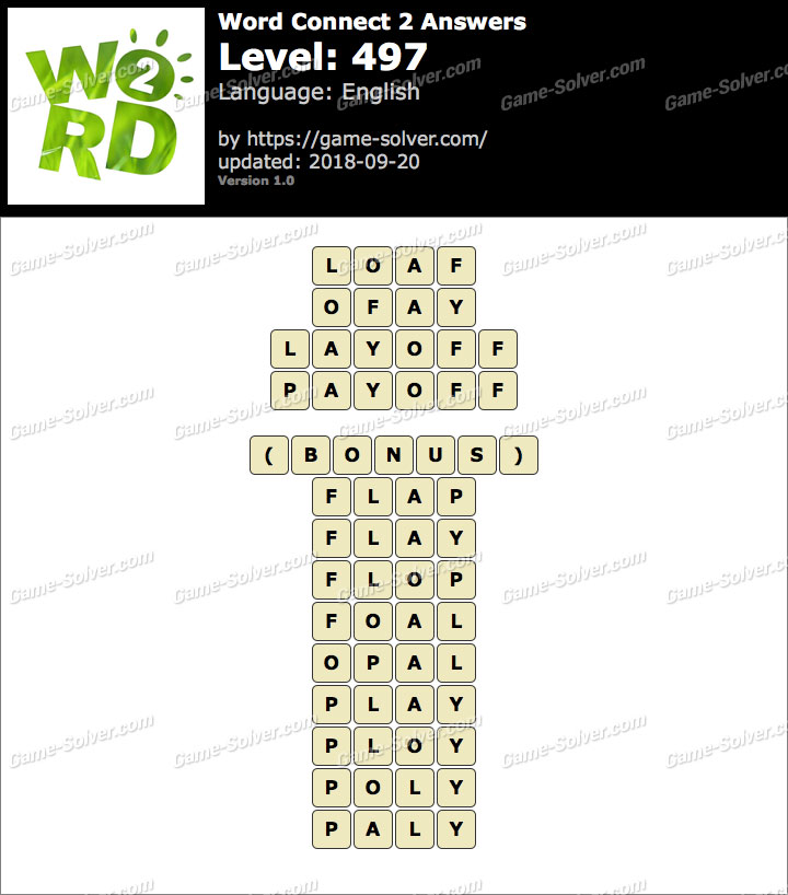 Word Connect 2 Level 497 Answers
