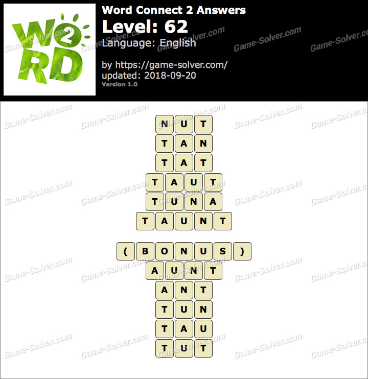 Word Connect 2 Level 62 Answers