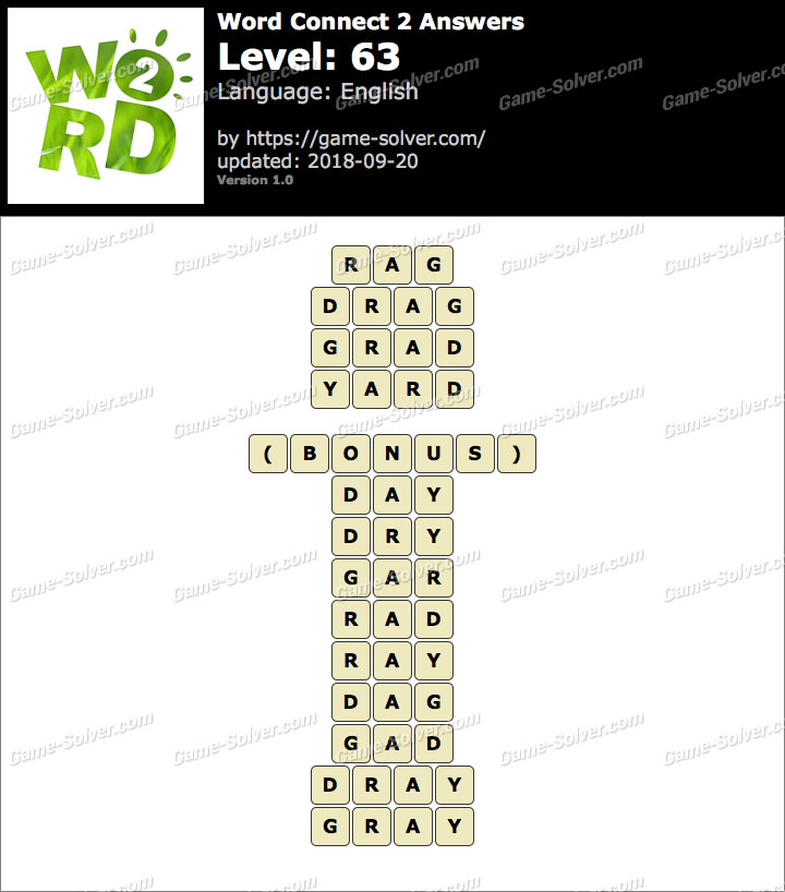 Word Connect 2 Level 63 Answers