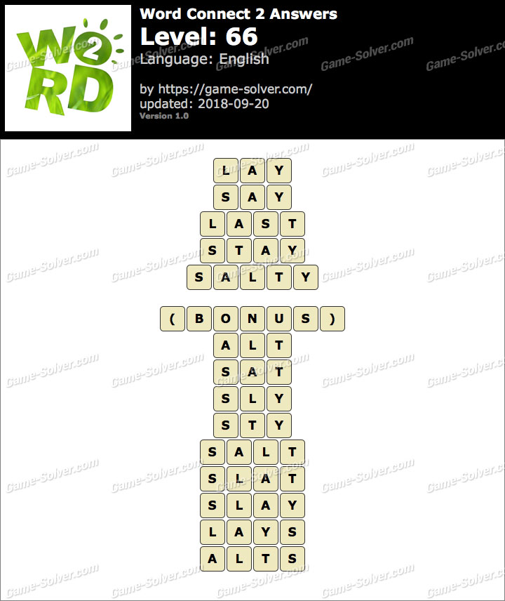 Word Connect 2 Level 66 Answers