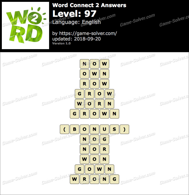 Word Connect 2 Level 97 Answers