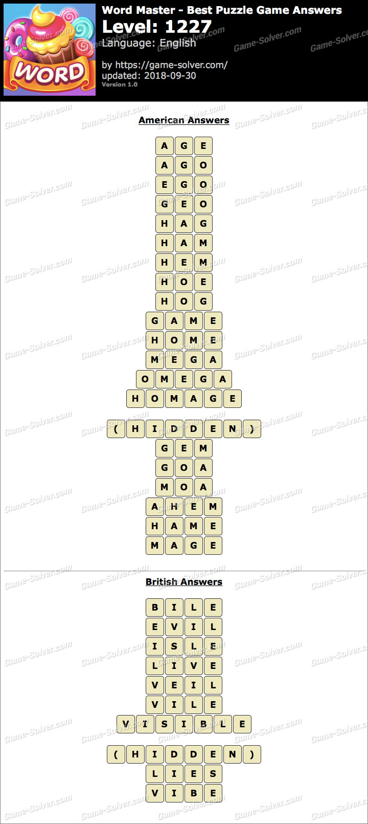 Word Master-Best Puzzle Game Level 1227 Answers