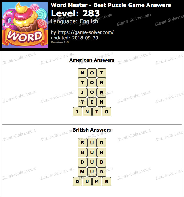 Word Master-Best Puzzle Game Level 283 Answers