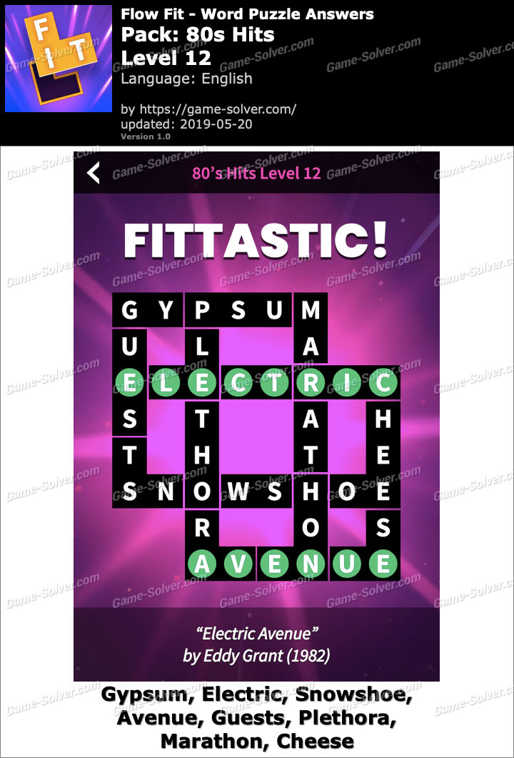 Flow Fit 80s Hits-Level 12 Answers