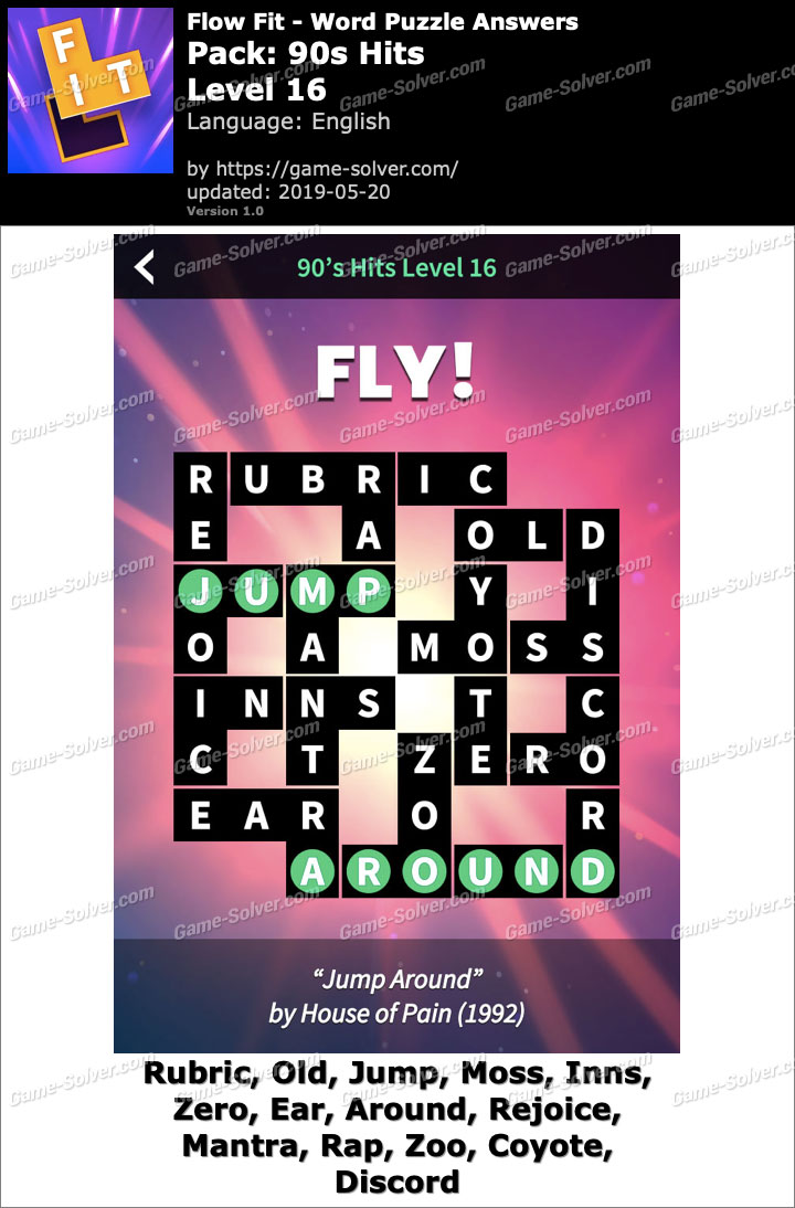 Flow Fit 90s Hits-Level 16 Answers
