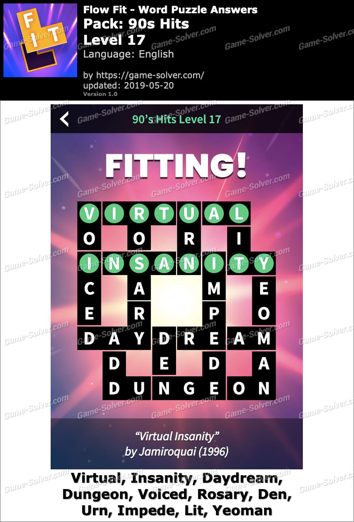 Flow Fit 90s Hits-Level 17 Answers