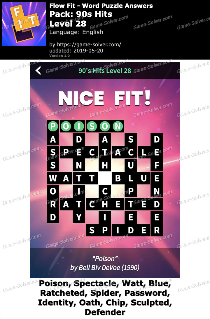 Flow Fit 90s Hits-Level 28 Answers
