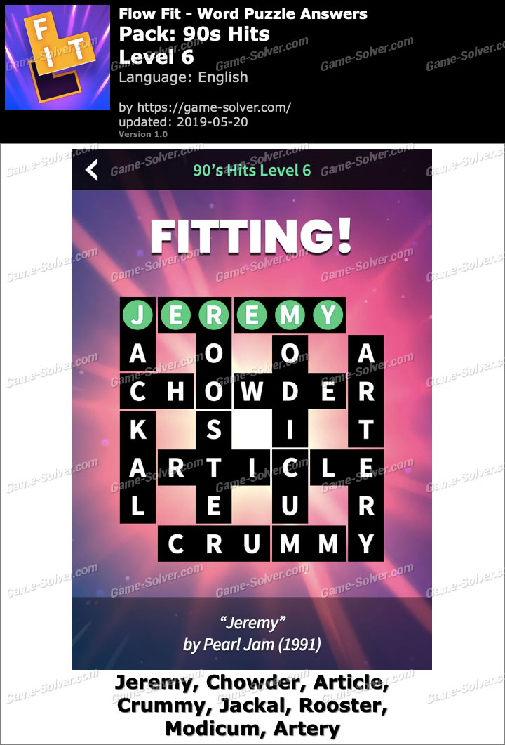 Flow Fit 90s Hits-Level 6 Answers