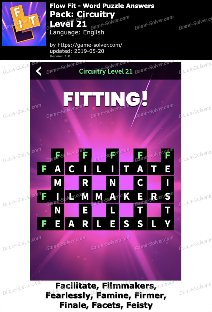 Flow Fit Circuitry-Level 21 Answers