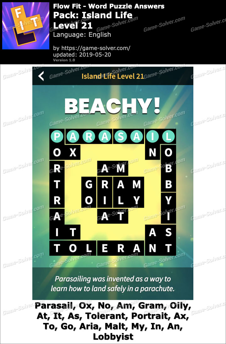 Flow Fit Island Life-Level 21 Answers