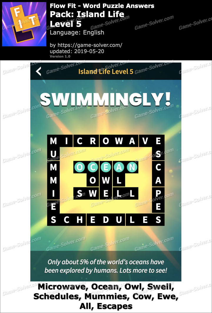 Flow Fit Island Life-Level 5 Answers