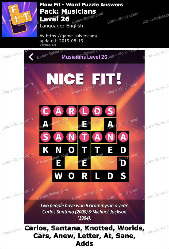 Flow Fit Musicians-Level 26 Answers