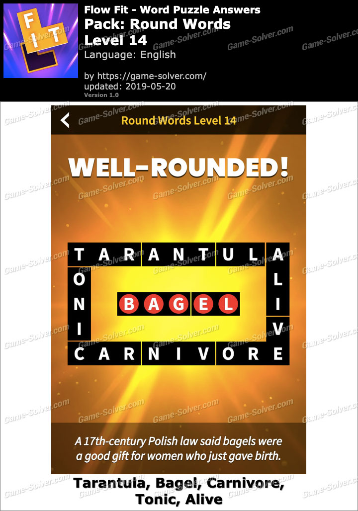 Flow Fit Round Words-Level 14 Answers