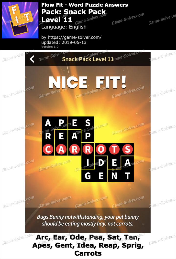Flow Fit Snack Pack-Level 11 Answers