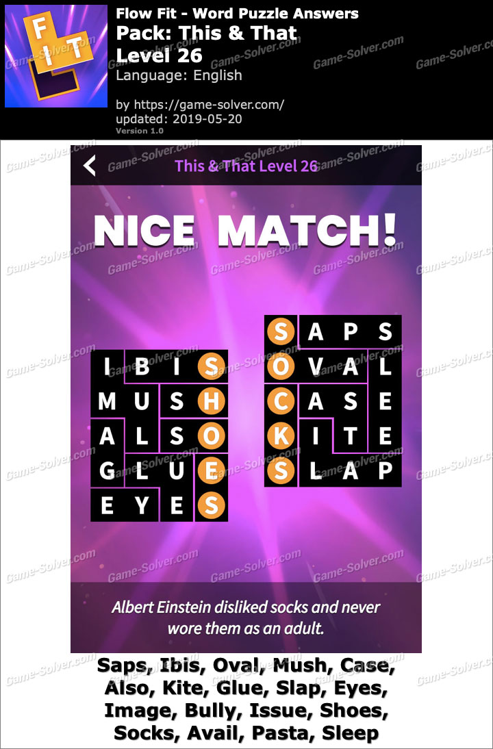 Flow Fit This And That-Level 26 Answers