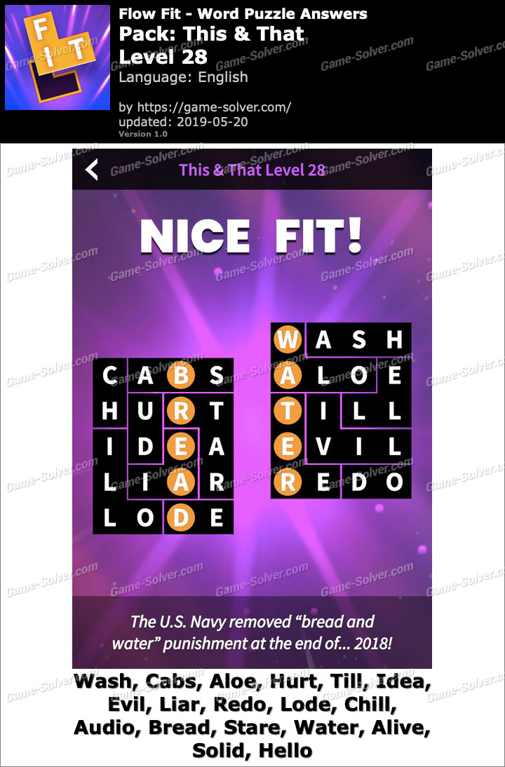 Flow Fit This And That-Level 28 Answers