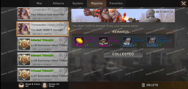 State of Survival Pyromaniac Rewards
