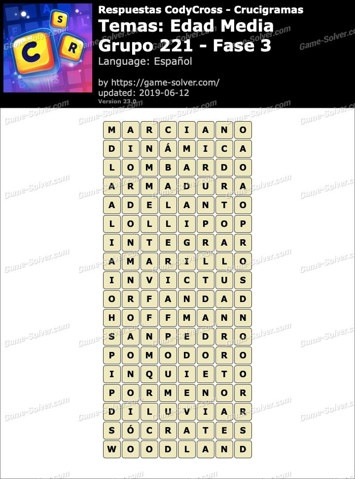 Respuestas CodyCross Edad Media Grupo 221-Fase 3