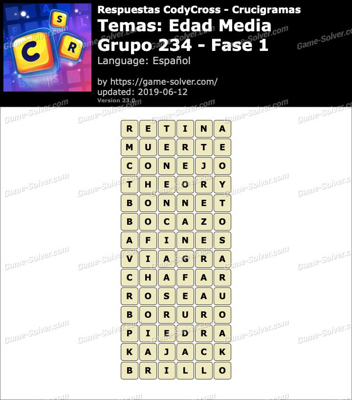 Respuestas CodyCross Edad Media Grupo 234-Fase 1
