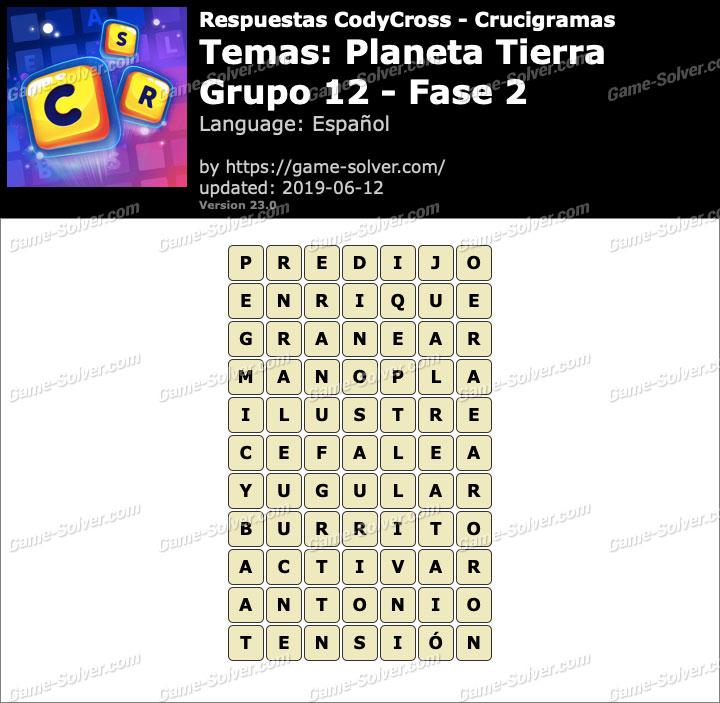 Respuestas CodyCross Planeta Tierra Grupo 12-Fase 2