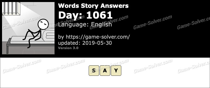 Words Story Day 1061 Answers
