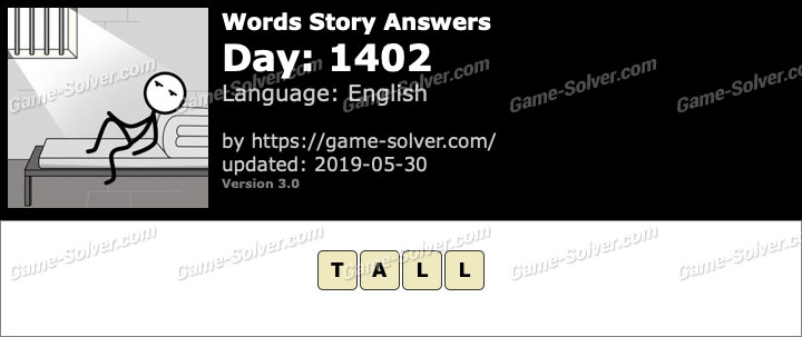 Words Story Day 1402 Answers