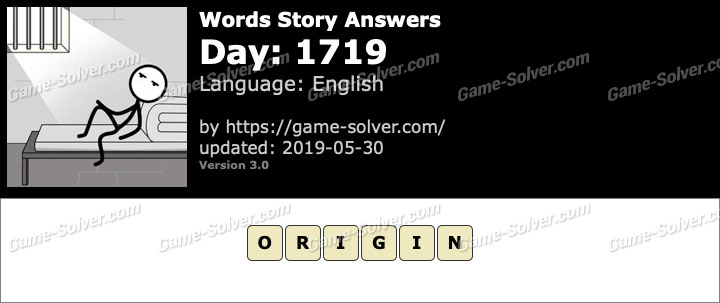 Words Story Day 1719 Answers