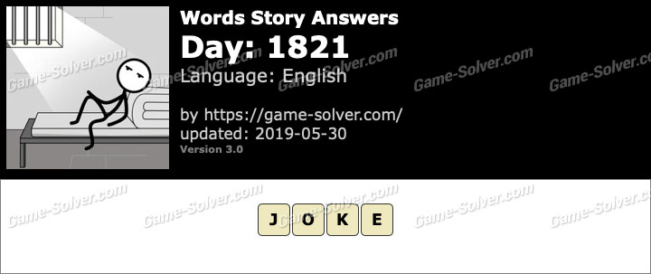 Words Story Day 1821 Answers