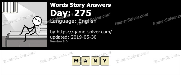 Words Story Day 275 Answers
