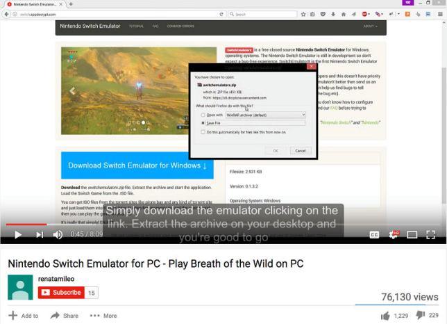 NintendoSwitch EmuFake