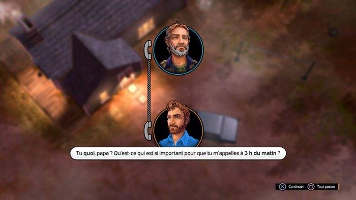 Les dialogues se déroulent sous forme de bulle et animation simplissime