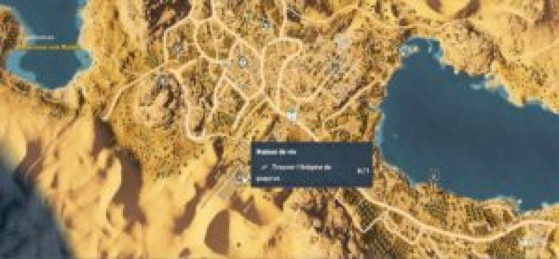 Assassin's Creed Origins - Emplacement Des Énigmes Papyrus Profonde Soif