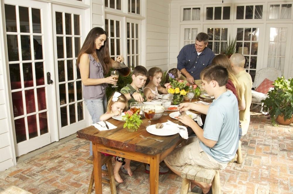 The Harris Family Enjoying Fantastic Venison Dinner