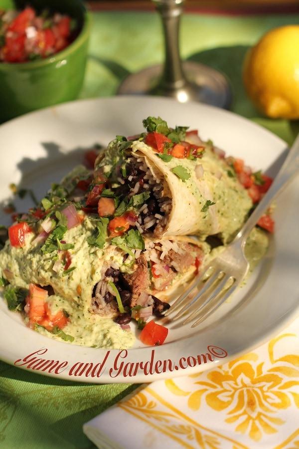 The Best Venison Burrito Supreme