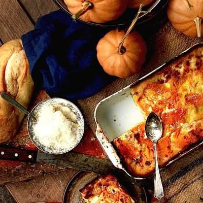 Pumpkin Lasagna with Sage White Sauce