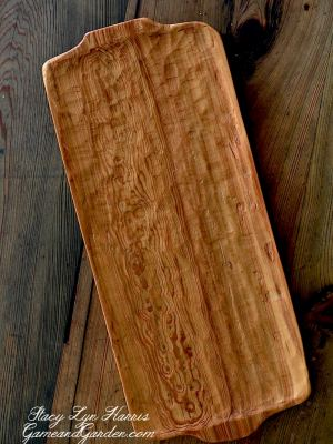 The colors and shading within the logs (later to become platters, spoons, etc. ) become a one-of-a-kind work of art in that the minerals from the bottom of the lakes and rivers seep into the wood resulting in variations between logs. Alabama River Reclaimed Sinker Cypress Platter - perfect gift to pass down for generations!