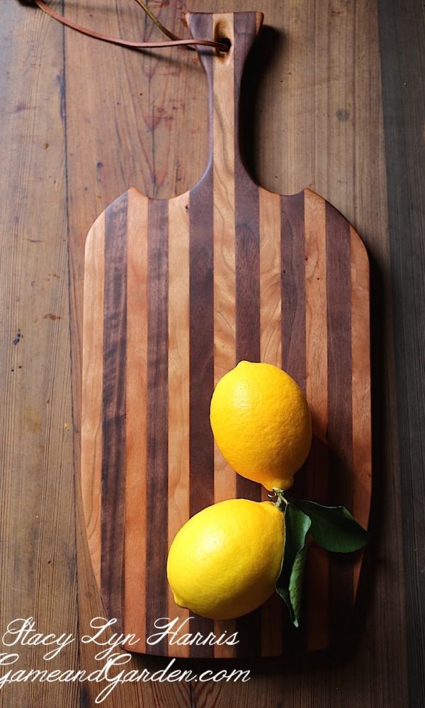 This Black Walnut and Cherry Heirloom Cutting Board is handcrafted with hardwoods that will last for generations to come.