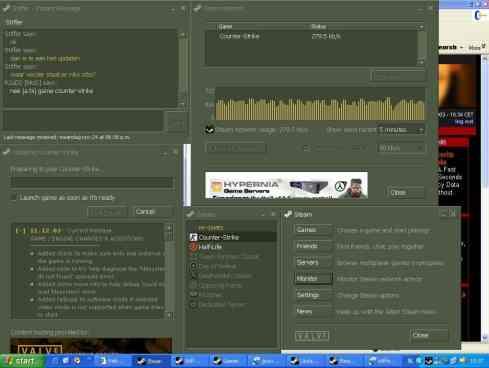 Un'immagine rappresentate l'interfaccia della versione Steam del 2003